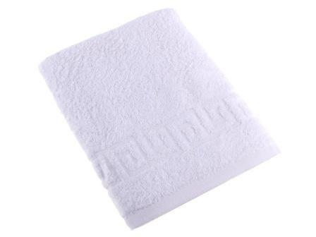 Махровое полотенце белое 70 на 140