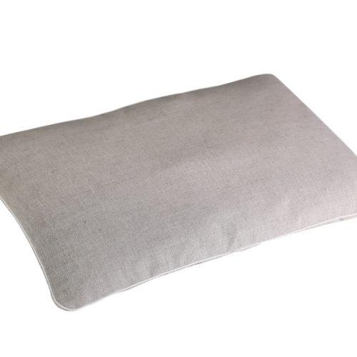Подушка с гречневой шелухой 40х60 чехол лен фото