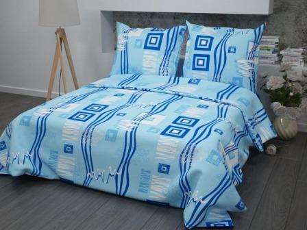 Ткань бязь набивная ГОСТ пл 140 гр ширина 150 см 348-1 Пикассо голубой