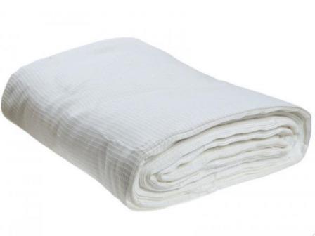 Ткань вафельное полотно отбеленное техническое плотность 140 гр/м2 ширина 80 см Д