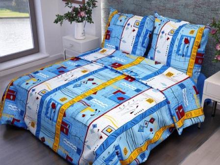 Ткань бязь 133-3 Стамбул синий плотность 120 гр/м2 ширина 150см Ф