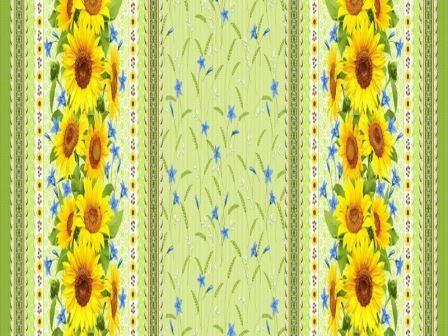 Купить оптом вафельную скатерть на стол от производителя желтые подсолнухи 18821 вид 1