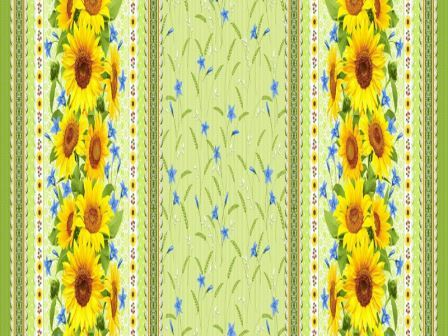 Вафельная скатерть на стол 150х180 см желтые подсолнухи 18821 вид 1