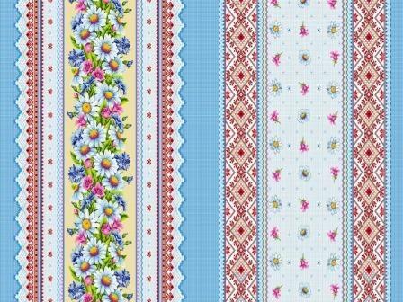 Ткань вафельное полотно для полотенец 18828 вид 1