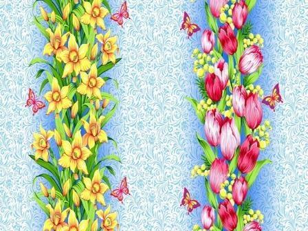 Ткань вафельное полотно для полотенец 18936 вид 1