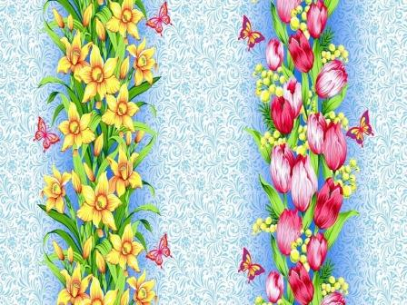 Ткань вафельное полотно для полотенец 18936 150 гр/м2 150см