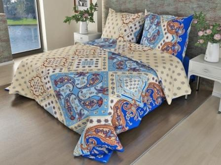 Ткань бязь для постельного белья 308-1 Восток синий