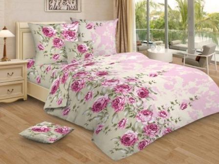 Ткань Ивановская бязь набивная пл 100 гр ширина 150 см 3258 Розовый сон Вид 2