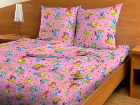 Бязь детская 120-125 гр/м2 150 см 3708 игрушки розовые