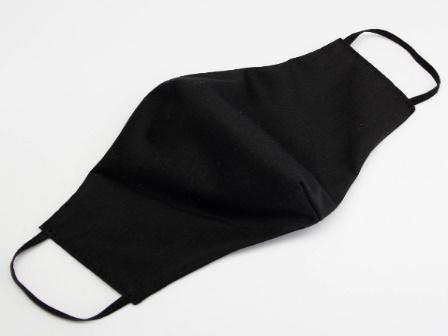 Маска текстильная защитная многоразовая черная