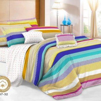 Поплин 220 см 037-32 разноцветные волны