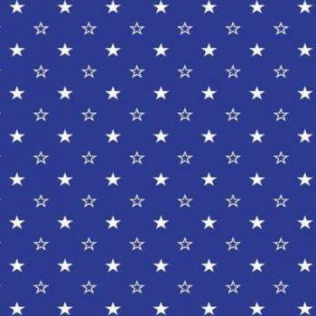 Поплин детский 150 см синие звезды арт. 1907