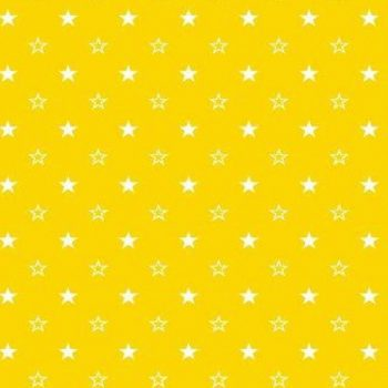 Поплин детский 150 см желтые звезды арт. 1907