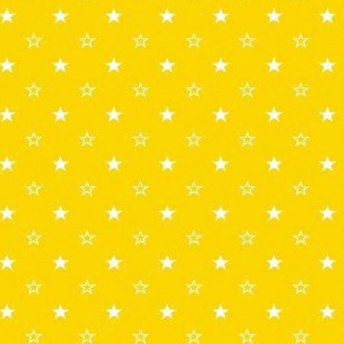 Поплин желтые звезды арт. 1907